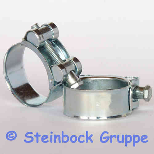 W1 Galvanised Zinc Plated T-Bolt Hose Clamps