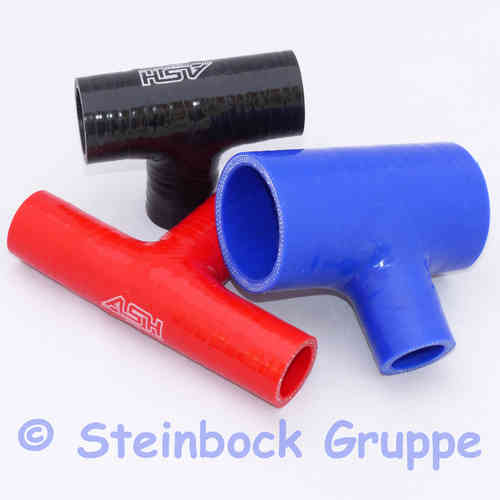 Reinforced Silicone T Piece Hose Straight Coupler Piece - Blow Off